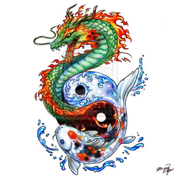 Pez drag n yin y yang koi pinterest pez dragon y for Koi 313 somerset