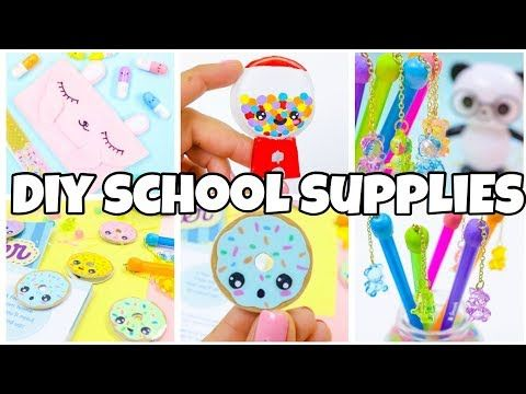 Photo of BACK TO SCHOOL SUPPLIES! Pencil case bookmarks gum ball machine diy-EASY DIY school supplies