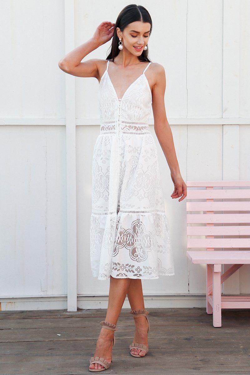 842083c139fa ... Lace Dresses Length: Mid-Calf Sleeve Style: Spaghetti Strap Waistline:  Empire Neckline: V-Neck Season: Summer Model Number: DR1140 Gender: Women