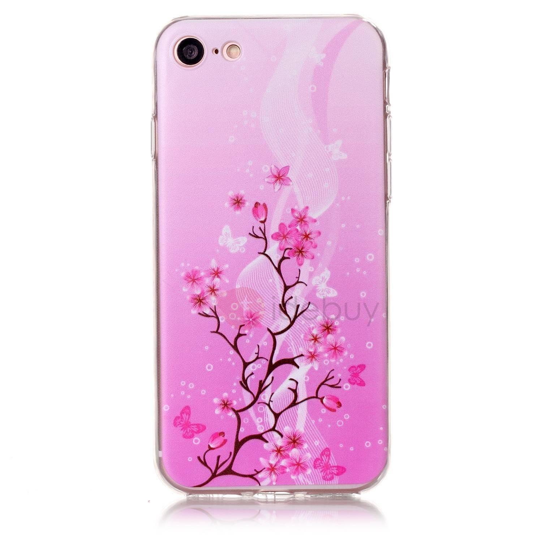 AdoreWe - TideBuy iPhone 7/7 Plus Case Painted Pink Flowers TPU ...