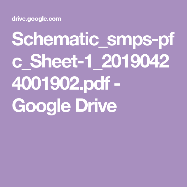 Schematic Smps-pfc Sheet-1 20190424001902 Pdf