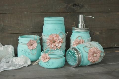 Photo of Shabby chic mason jars – Priority/Fedex