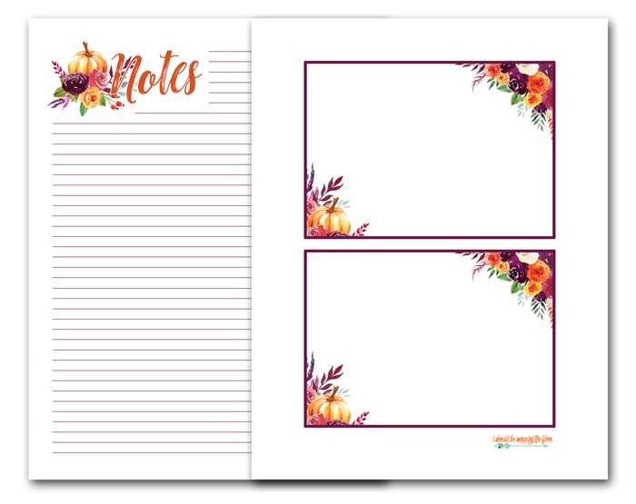 Free Printable Fall Note Cards And Note Pages Printable Note Cards Note Cards Printable Gift Cards
