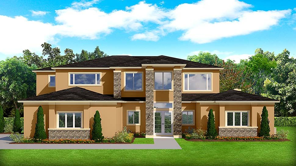 Plan 51700 Mediterranean Style House Plans House Plans Stucco Homes