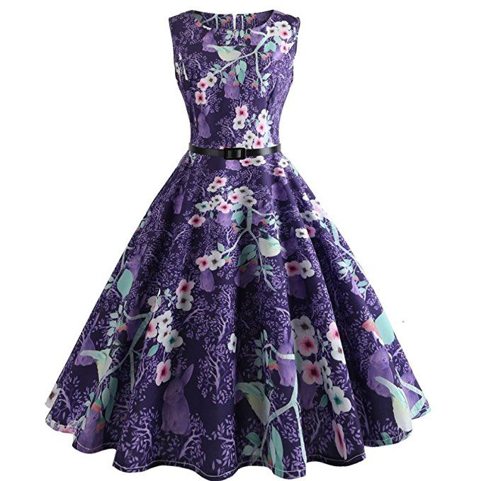 791ab8be280 Kleider Damen - Vectry - Rockabilly Kleid Elegante Kleider Lange Kleider  Damen Sommer Feste Damenkleider Knielang