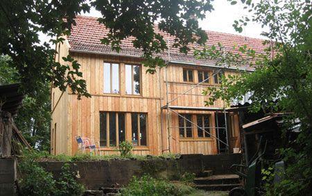 Lärchenholzfassade Fassadengestaltung, Fachwerkhäuser