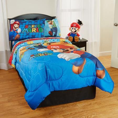 Super Mario Comforter Kids Bedding, Super Mario Bros Full Size Bedding