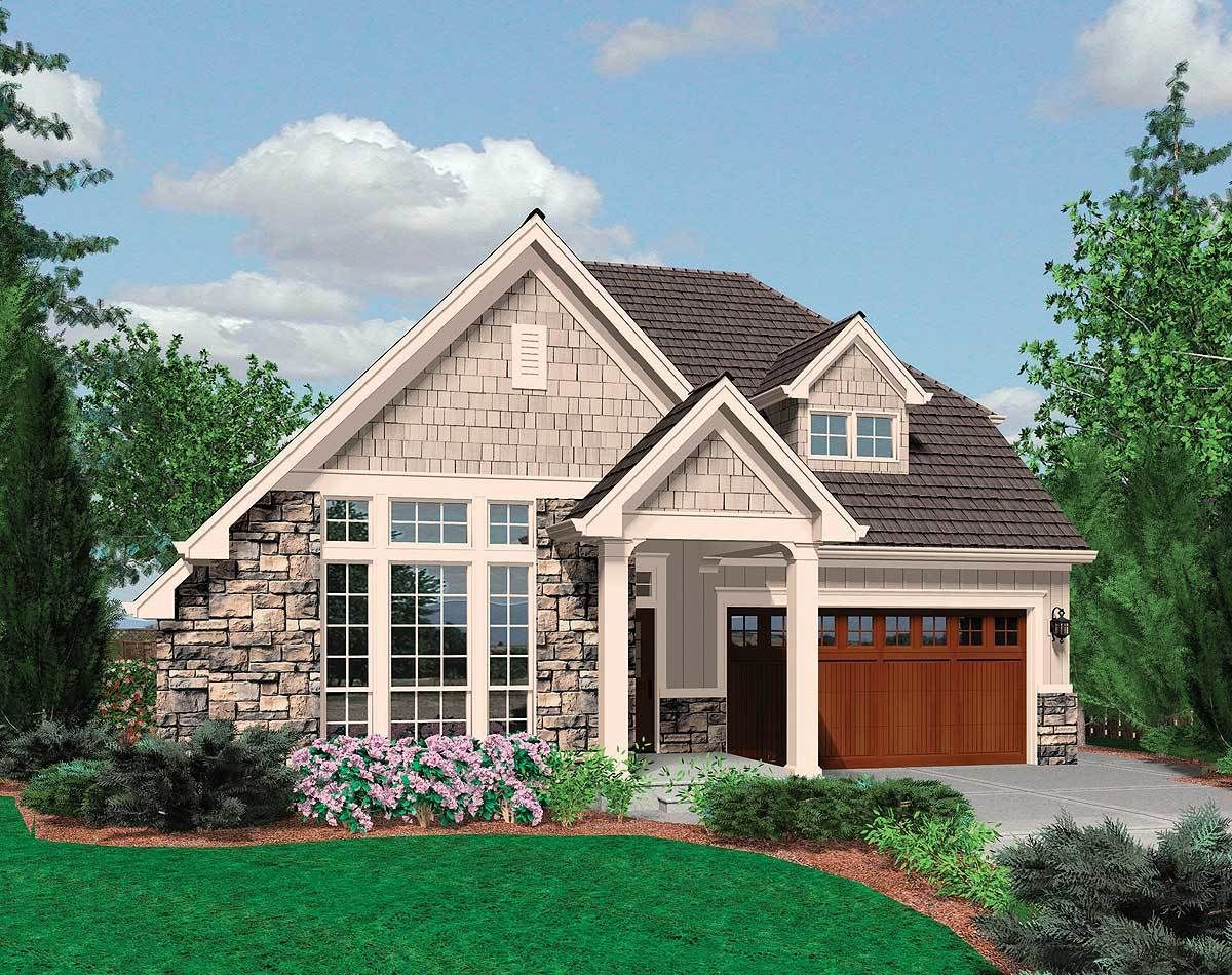 Plan 69125am Small Family Cottage Plan With Vaulted Ceilings Small Cottage House Plans Small Cottage Homes Cottage Plan