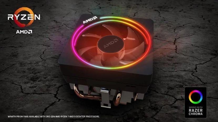Amd Ryzen 7 And 9 Wraith Prism Fans Get Razer Chroma Support Razer Amd Wearable Device