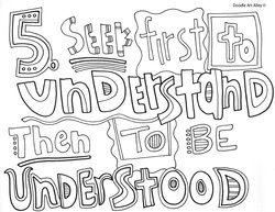 Habits Of Happy Kids Doodle 5 Habits Of Mind Pinterest 7 Habits Coloring Pages
