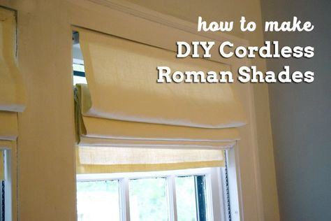How To Make Your Own Cordless Roman Shades Out Of Cheap