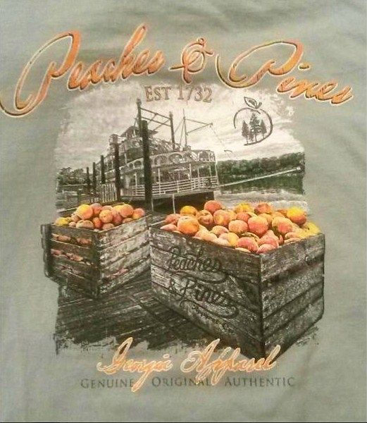 New peaches and pines design