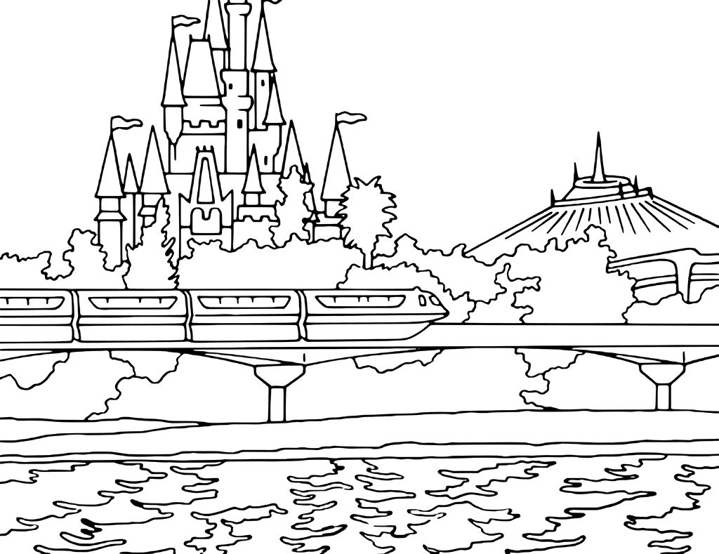 Coloring Pages Of Disney World | Coloring Pages | Pinterest