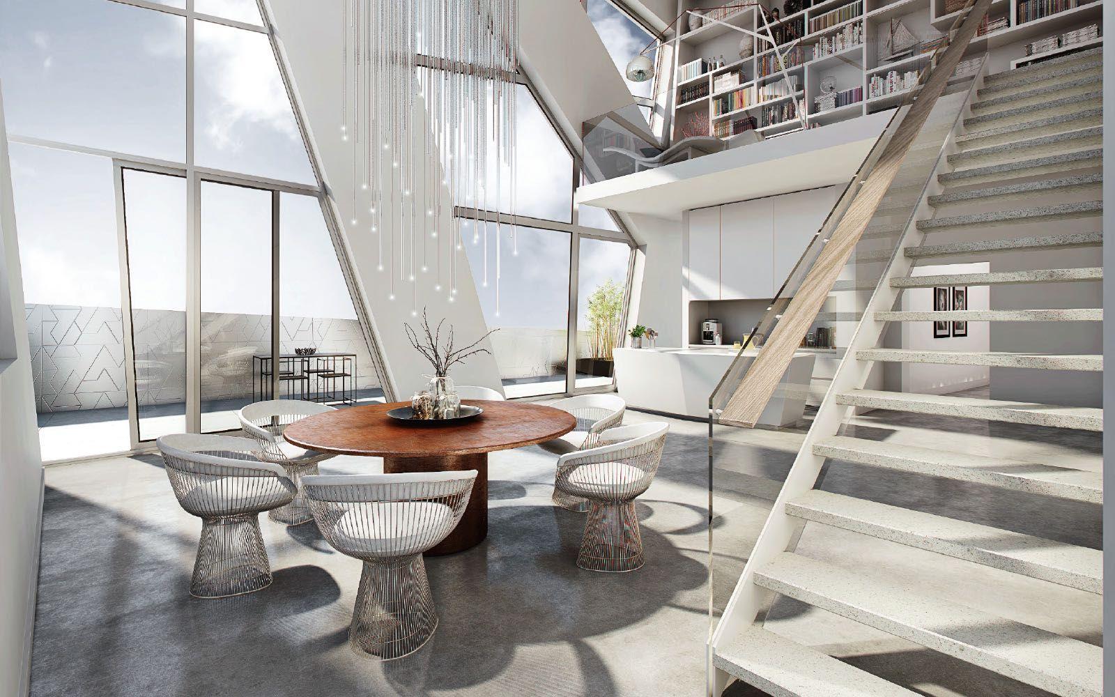 Inneneinrichtung Einer Penthouse Wohnung In Dem Neubauobjekt Sapphire In  Berlin Mitte