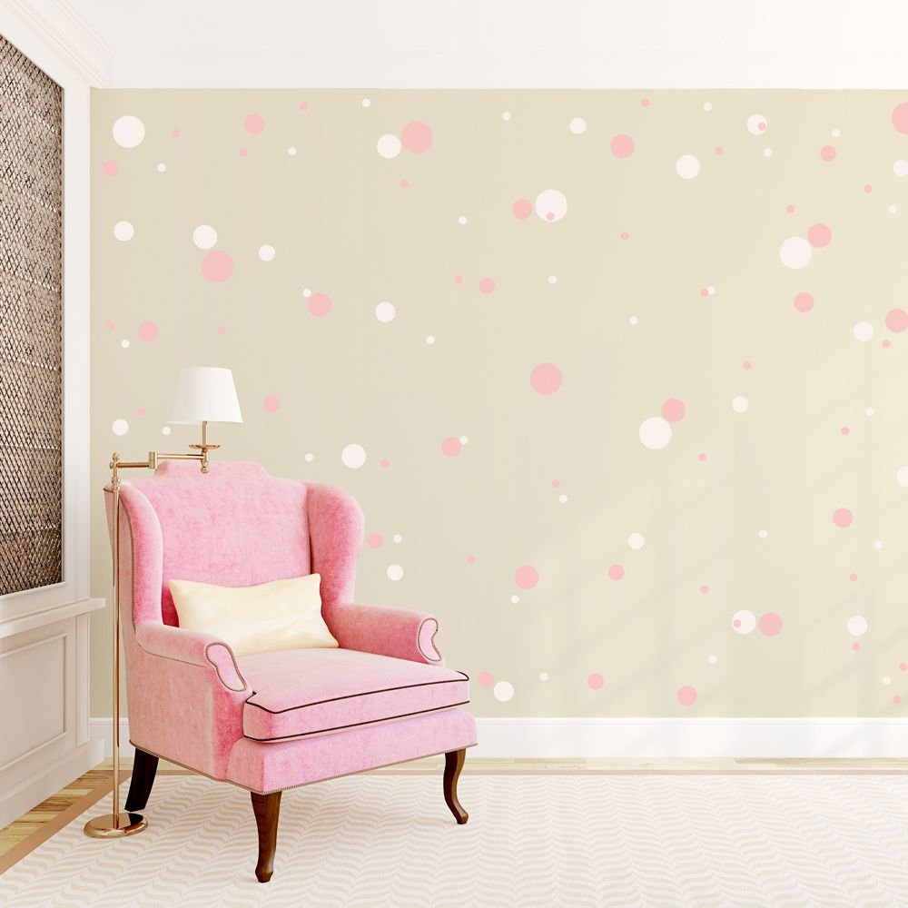 Exceptionnel 2 Color Polkadot Wall Decals (I Would Do Powder Blue And White On Grey Walls )