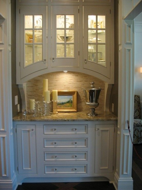 Small Butler Pantry From Hooked On Houses Kitchen