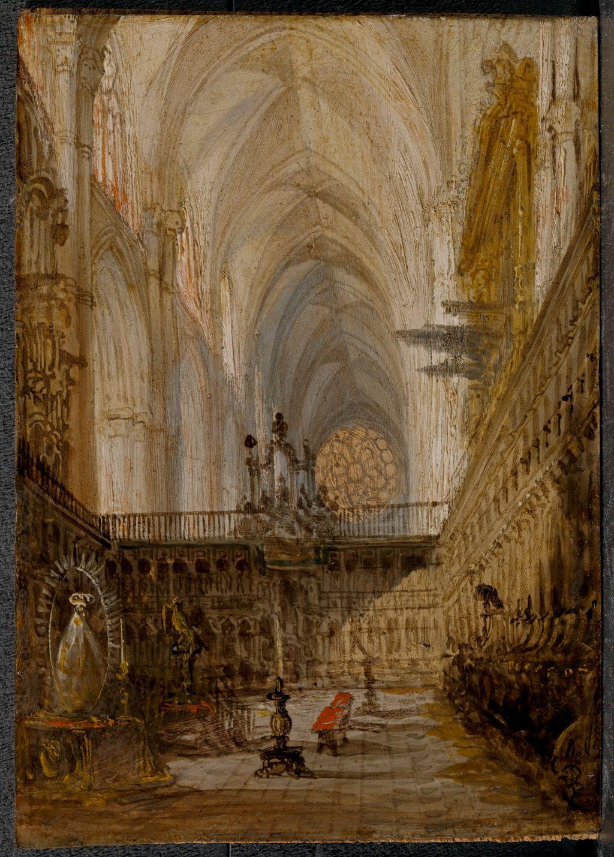 """Coro De La Catedral Toledo """"ptico 42 Vistas Monumentales Ciudades Espaolas"""