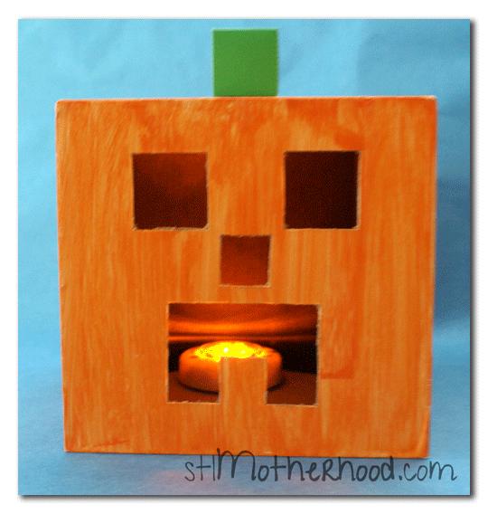 Minecraft Pumpkin Craft For Halloween Minecraft Pumpkin Pumpkin Crafts Halloween Crafts