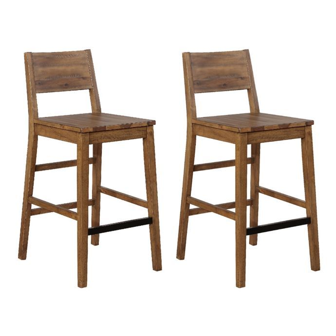 Awesome 249 00 Garrett Bar Stools In Natural Set Of 2 Bed Bath Theyellowbook Wood Chair Design Ideas Theyellowbookinfo