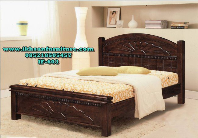 Model Tempat Tidur Kayu Minimalis Modern