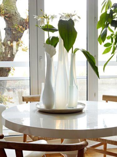 close up vases