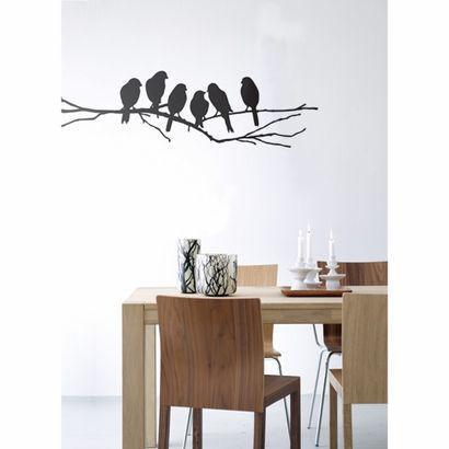 Lovebirds Wall Sticker. Easy way to transform a room