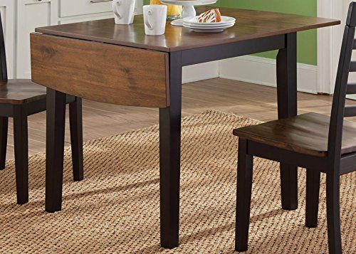 Liberty Furniture Cafe Drop Leaf Dining Table In Black And Cherry