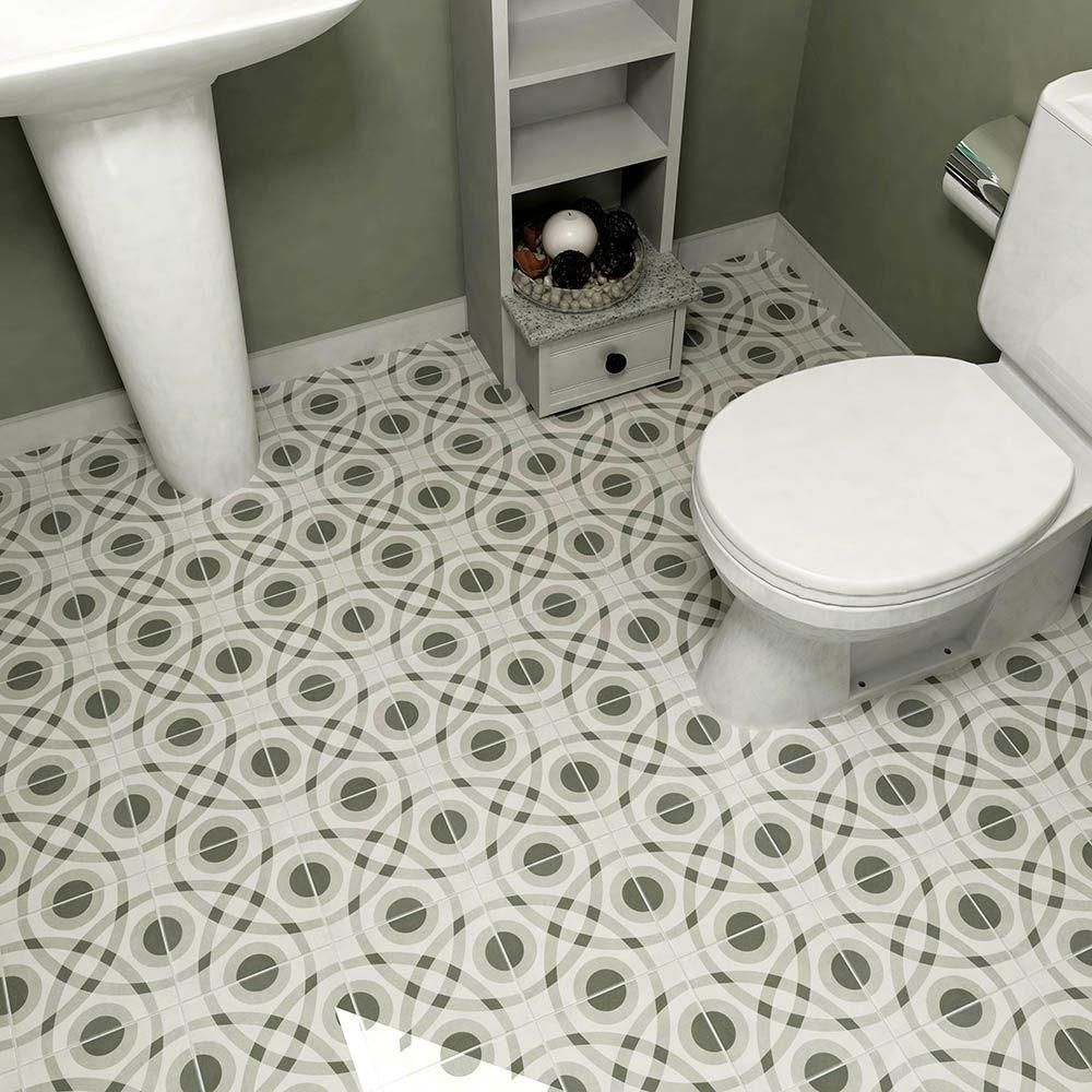 Merola tile twenties circle 7 34 in x 7 34 in ceramic floor and merola tile twenties circle 7 34 in x 7 3 dailygadgetfo Images