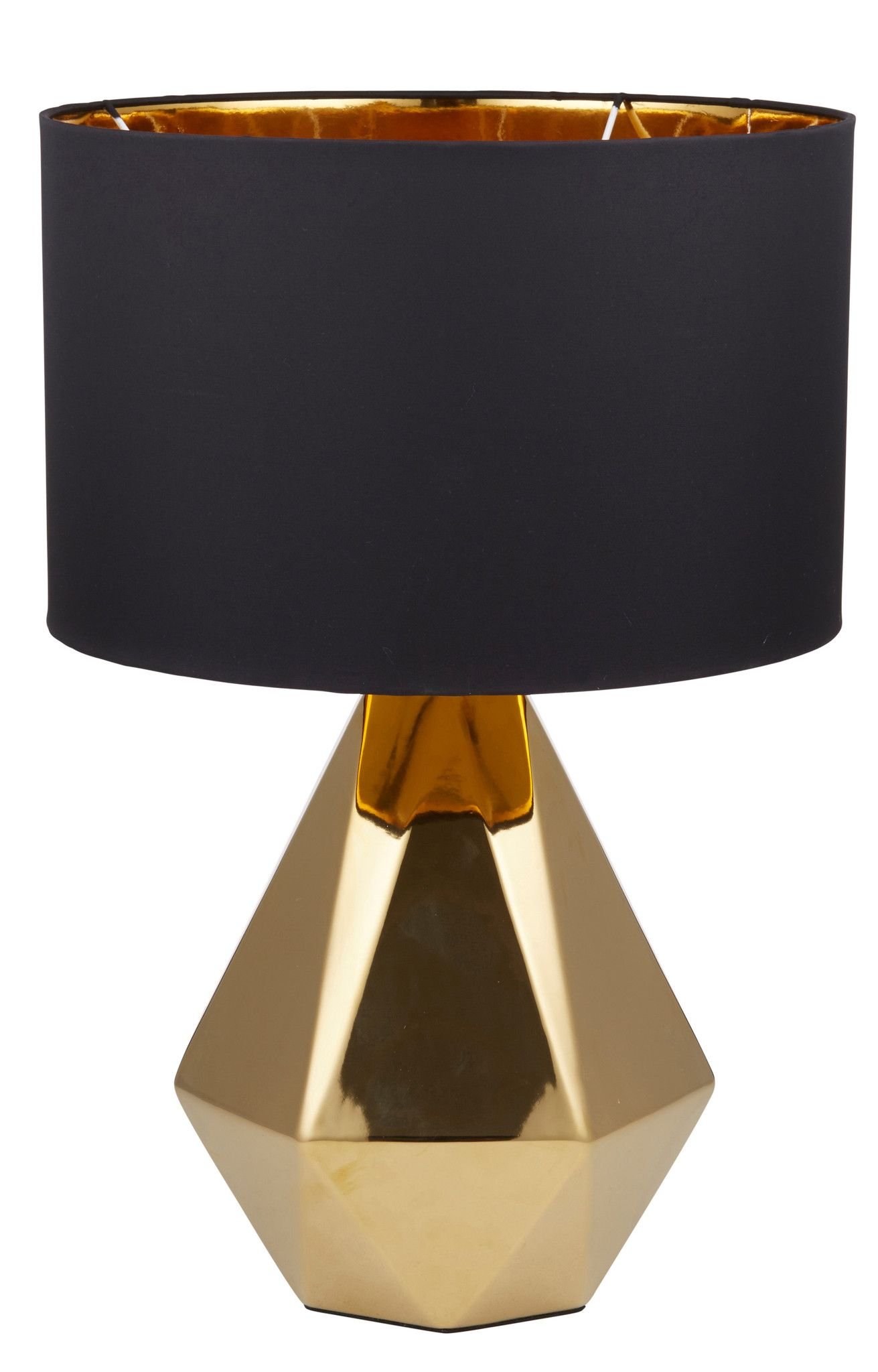 Cleo Table Lamp Gold Black From Coco