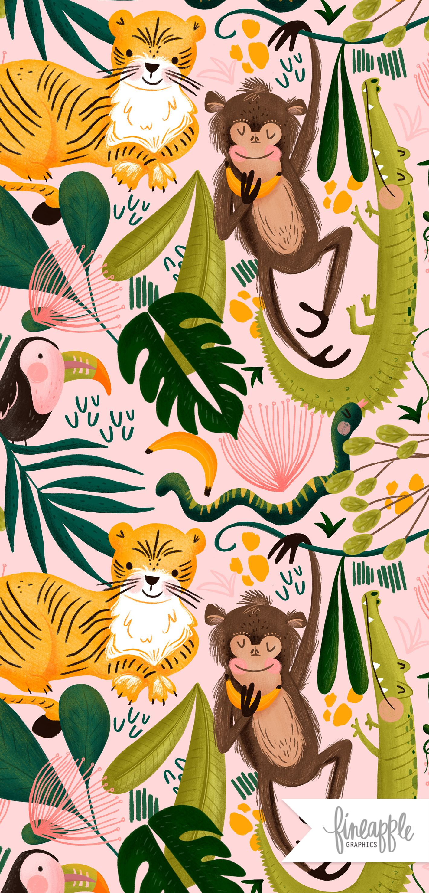Jungle Digital Paper Jungle Graphics Jungle Animals