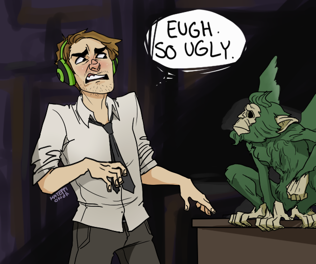 pewdiepie and bufkin in The Wolf Among Us