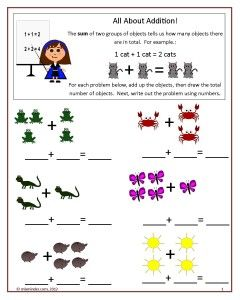 Two Free Worksheets You Can Use To Teach Addition To Your Students