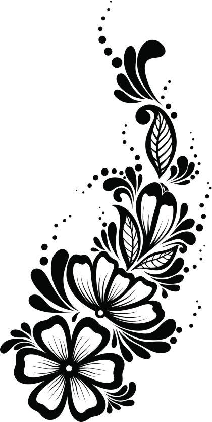 Pantillas de tatuajes de henna - Cuerpo y Arte | Bordado | Pinterest ...