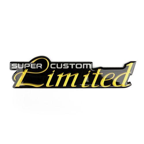Decal Emblem SUPER CUSTOM Limited Metal Side Rear Sticker