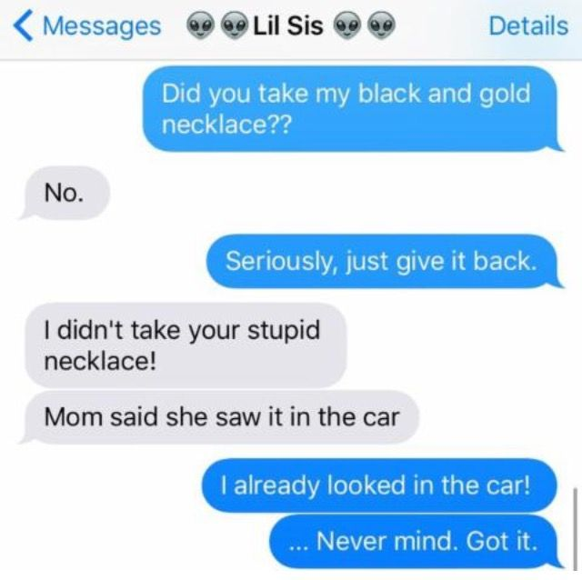sisters' conversations