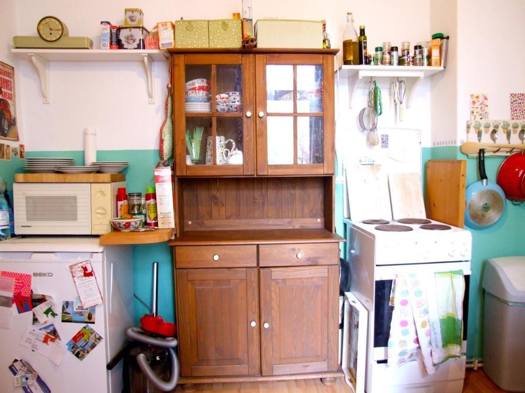 Küche in süßer 1-Zimmerwohnung in Hamburg Eimsbüttel Mit Terasse