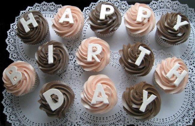 Happy Birthday Cupcakes X 13