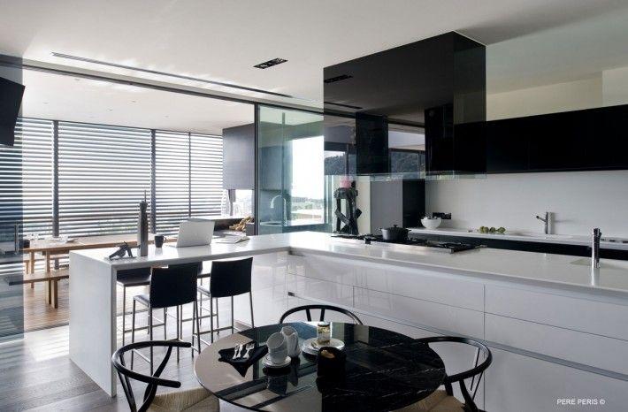 Nowoczesna Bialo Czarna Kuchnia Modern Windows Home House