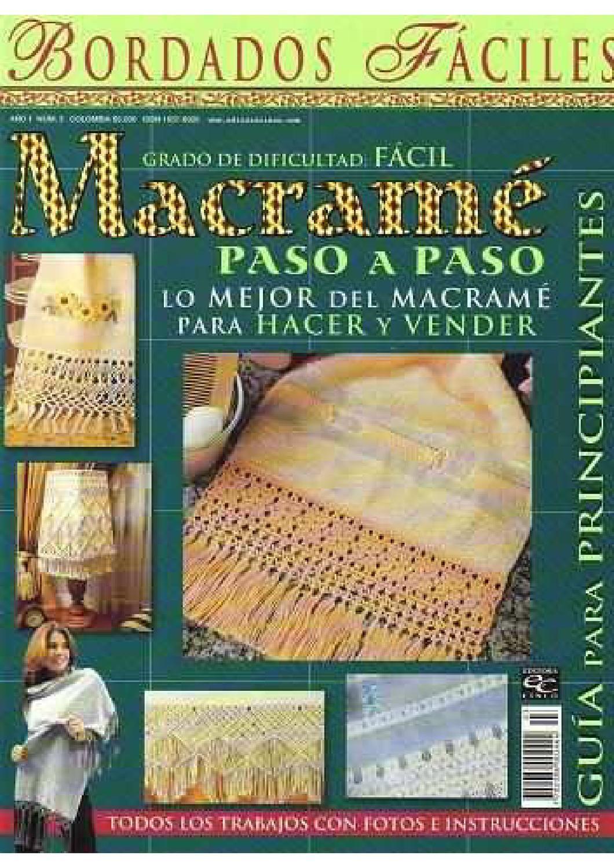 Macrame Book Cover Tutorial : Macrame paso a tutorial crochet books and