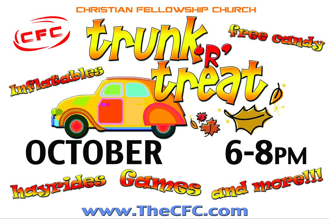 Christian Fellowship Church Trunk Treat Banner 4042 Sign11 Com Church Trunk Banner Treats