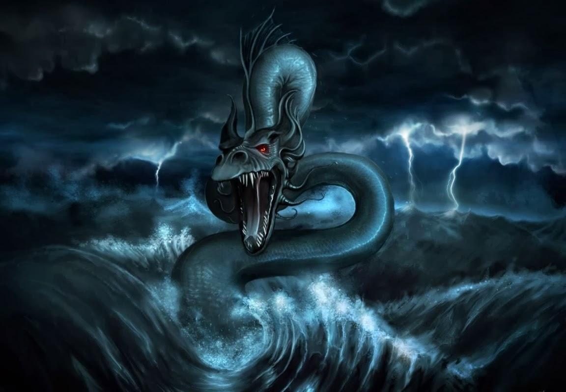 Seres mitológicos acuáticos #3 LEVIATÁN