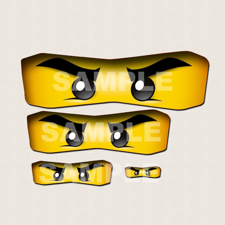 Ninjago Eyes Printable Birthday Party Favor Labels 2 50 Via Etsy