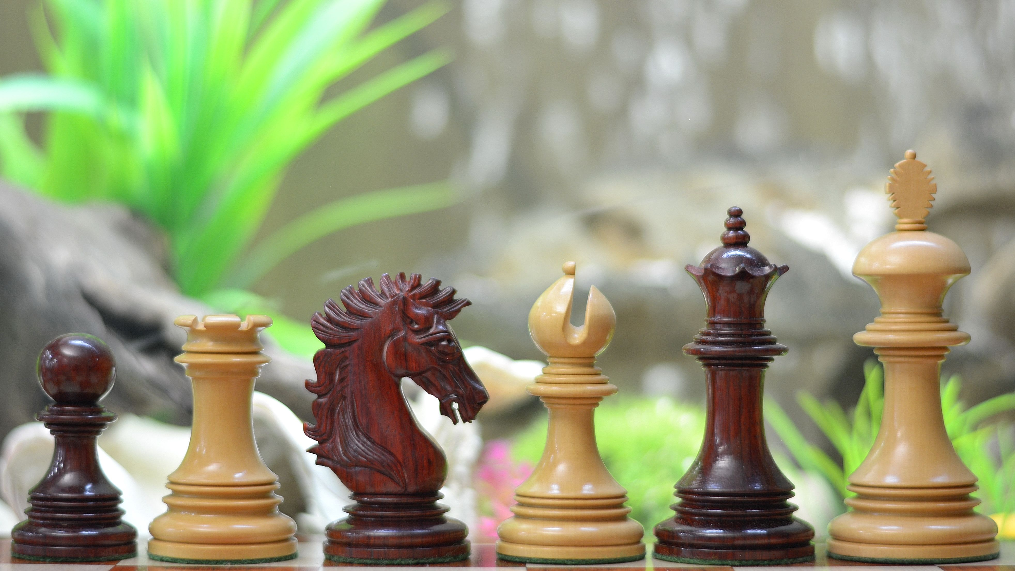 Indian American Luxury Series Chess Set In Bud Rose Box Wood 4 King Wooden Sets Expensive Themed Antique Chessbazaar