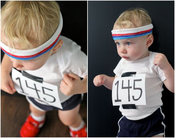 considering toddlers can outrun most adults in terms of endurance this last minute halloween costume makes total sense - Last Minute Toddler Halloween Costumes