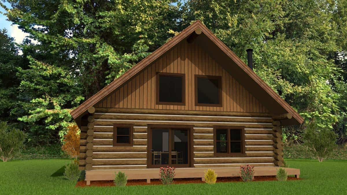 Economical Log Home Floor Plan Design The White River By Caribou Creek Log Homes Log Home Floor Plans Log Home Builders Log Homes