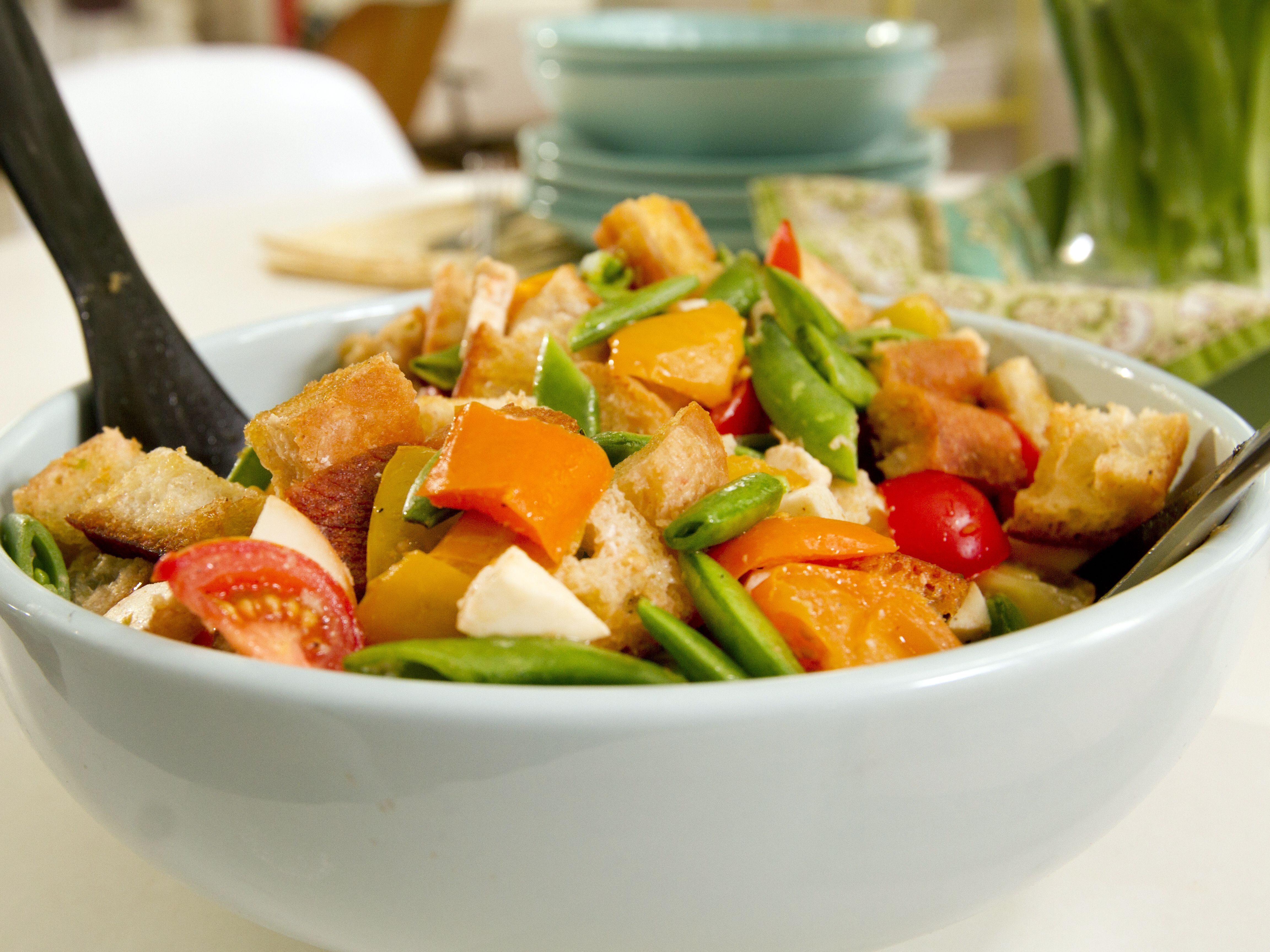Smoky Panzanella with Market Vegetables from CookingChannelTV.com