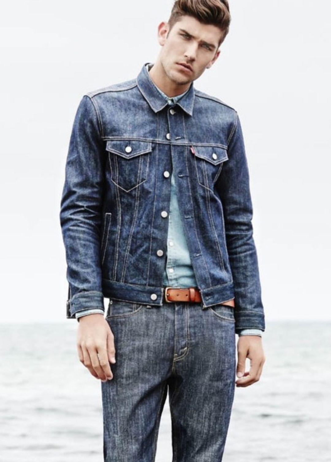 45 Awesome Jeans Jackets Ideas For Men Look Cooler Fashions Nowadays Denim Jacket Men Mens Fashion Jeans Jackets Men Street [ 1506 x 1080 Pixel ]