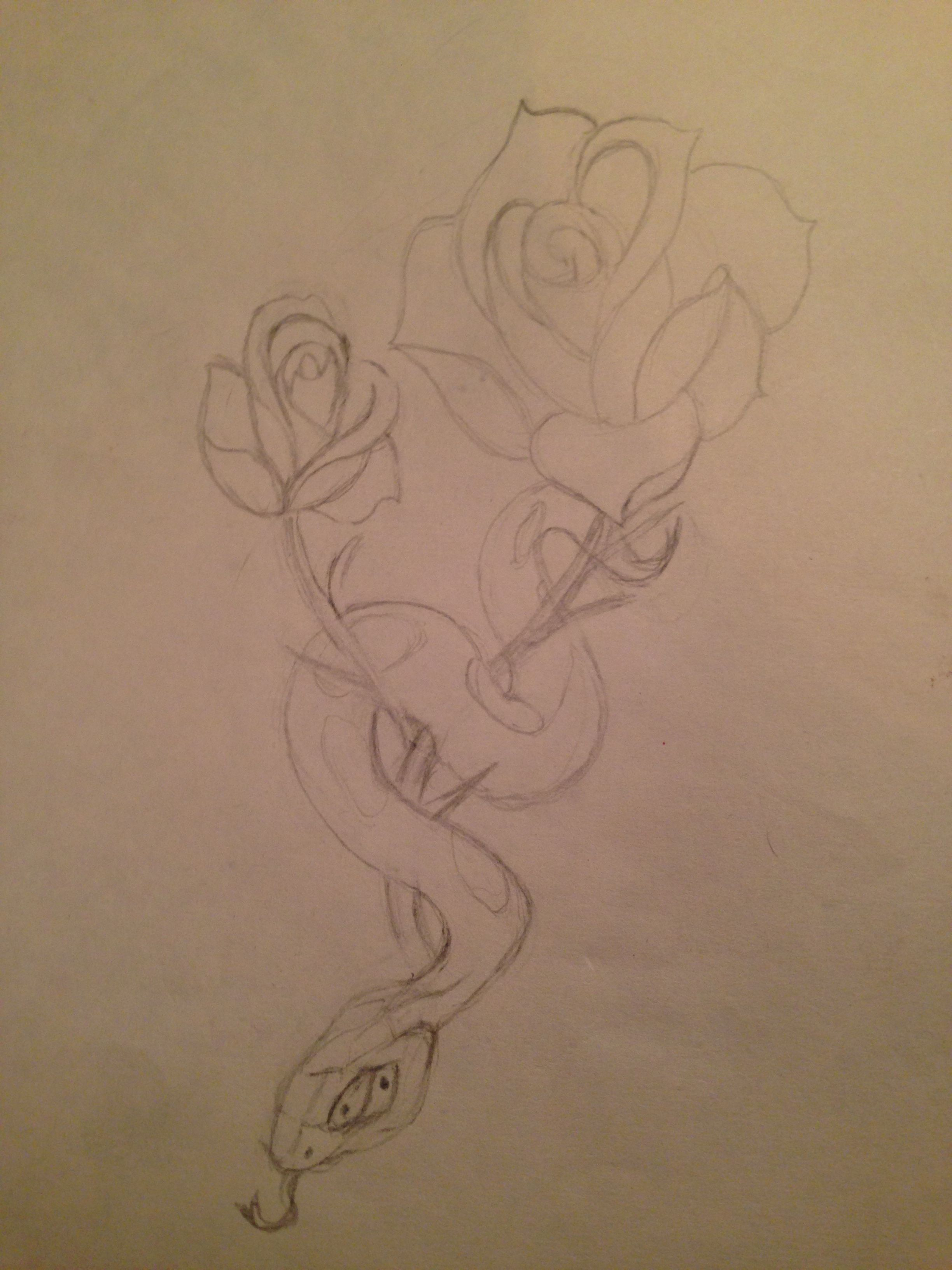This Is A Drawing Of My Second Tattoo Done By My Grandmother I Am