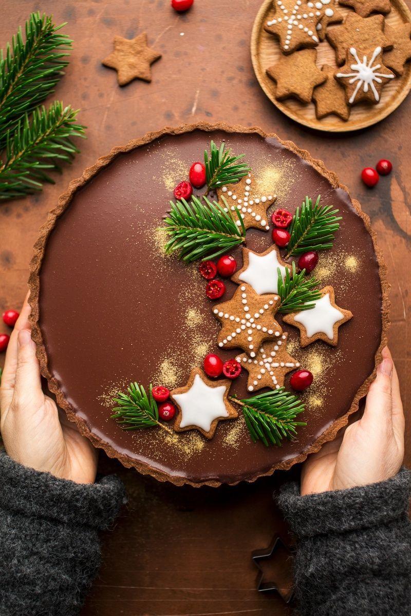 Photo of Gingerbread amaretto chocolate tart – Lazy Cat Kitchen
