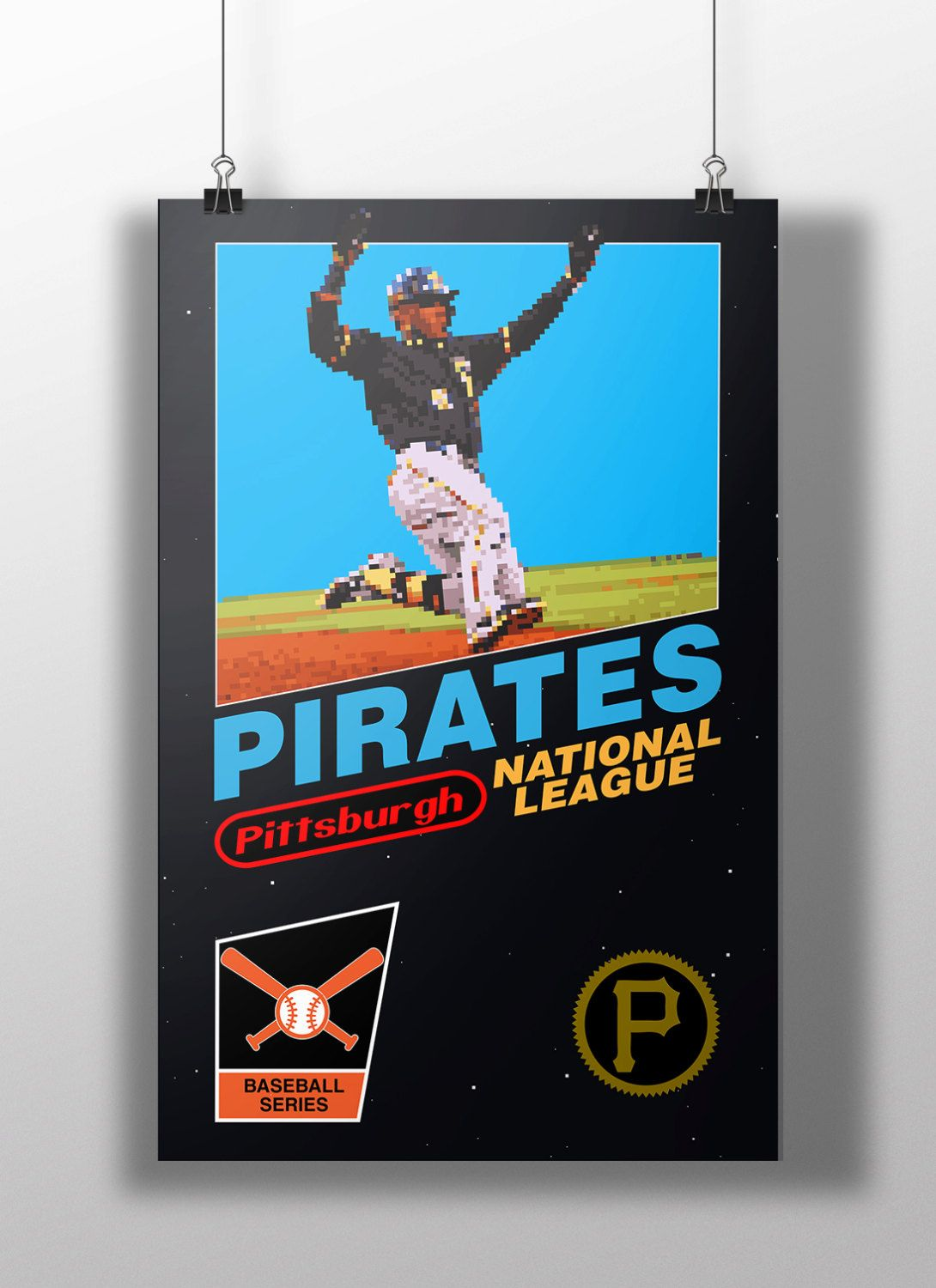 Starling marte photos photos cincinnati reds v pittsburgh pirates - Pittsburgh Pirates Retro Nes Box Art Print Starling Marte By Bigleagueprints On Etsy
